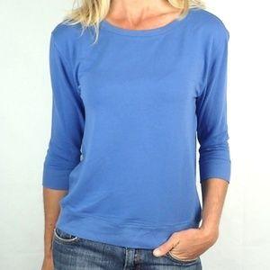 LOFT Sky Blue 3/4 Sleeve Casual Sweater